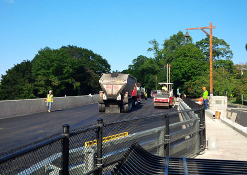 Paving operation (view looking north)